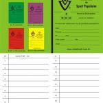 Passaporte ou caderneta internacional do IVV, distribuída a todos que caminham pela Anda Brasil
